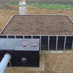 Bio Flächenfilter Biogasentschwefelung